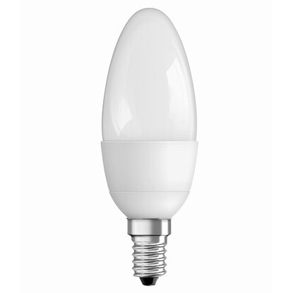 Osram LED-Lampe EEK: A+ Kerzenform E14 / 6 W (470 lm) Warmweiss Matt dimmbar