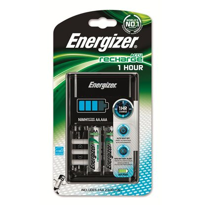 Energizer 1h Charger inkl. 2 x AA 2300mAh 1er-Blister