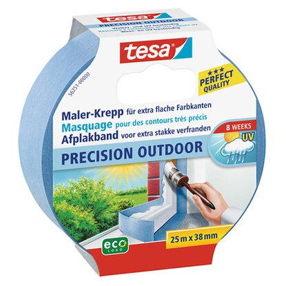 Tesa Maler-Krepp Precision Outdoor Blau 25 m x 38 mm