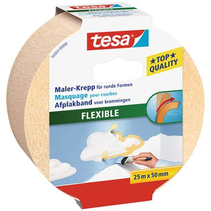 Tesa Maler-Krepp Flexible Beige 25 m x 50 mm