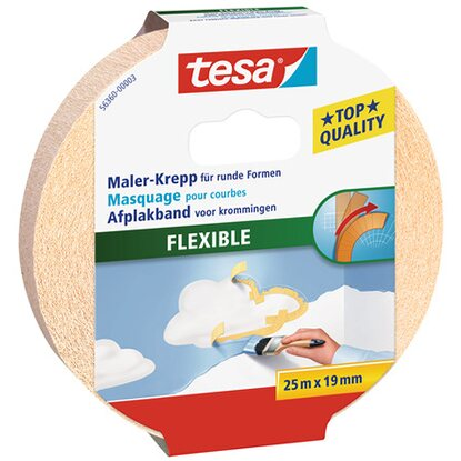 Tesa Maler-Krepp Flexible Beige 25 m x 19 mm