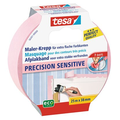 Tesa Maler-Krepp Precision Sensitive Rosa 25 m x 38 mm