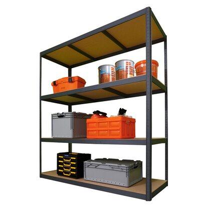 obi metall schwerlast steckregal xxl 180 cm x 160 cm x 60 cm kaufen bei obi. Black Bedroom Furniture Sets. Home Design Ideas
