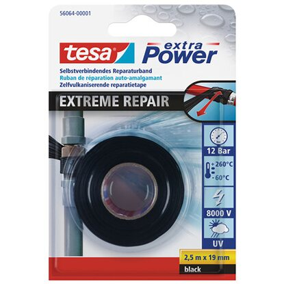 tesa extra Power Reparaturband Extreme Repair Schwarz 2,5 m x 19 mm
