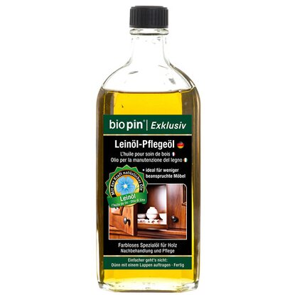 Biopin Exclusiv Leinöl-Pflegeöl Transparent 250 ml