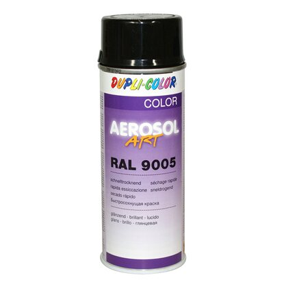 Dupli-Color Lackspray Aerosol-Art RAL 9005 Tiefschwarz 400 ml