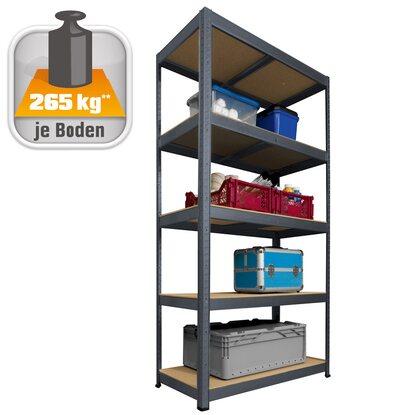 obi metall schwerlast steckregal anthrazit 180 cm x 90 cm x 45 cm kaufen bei obi. Black Bedroom Furniture Sets. Home Design Ideas