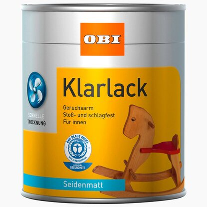 OBI Klarlack Transparent seidenmatt 375 ml
