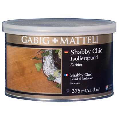 Gäbig+Mätteli Shabby Chic Isoliergrund Transparent 375 ml