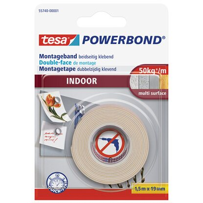 Tesa Powerbond Montageband Indoor 1,5 m x 19 mm