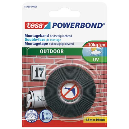 tesa Powerbond Montageband Outdoor 1,5 m x 19 mm