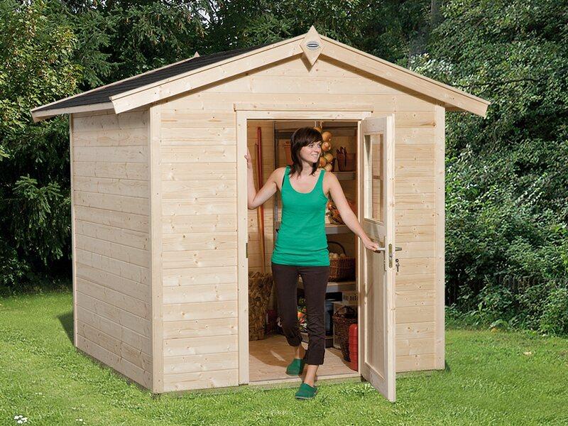 obi holz gartenhaus monza a natur 205 cm x 154 cm kaufen. Black Bedroom Furniture Sets. Home Design Ideas