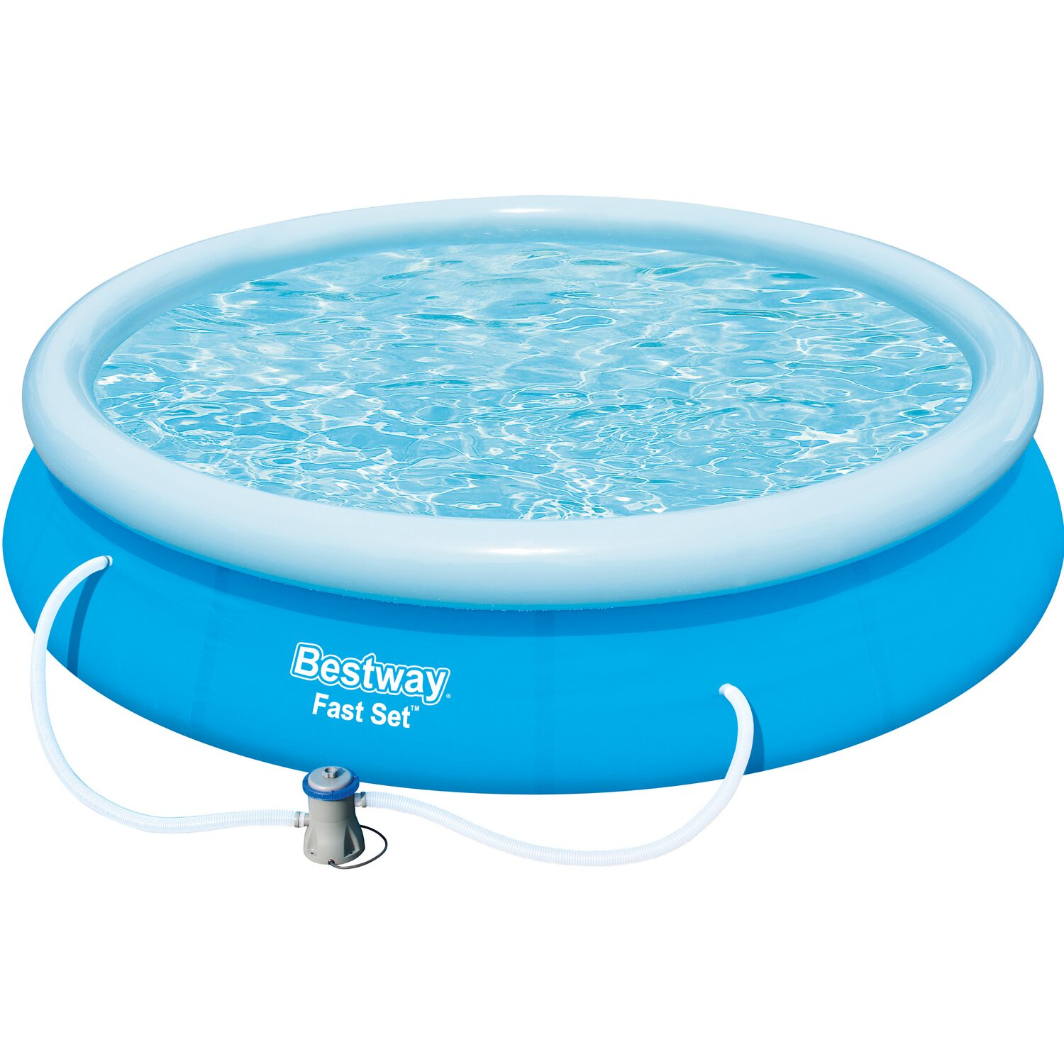 Bestway fast set pool 366 cm x 76 cm kaufen bei obi for Obi filterpumpe
