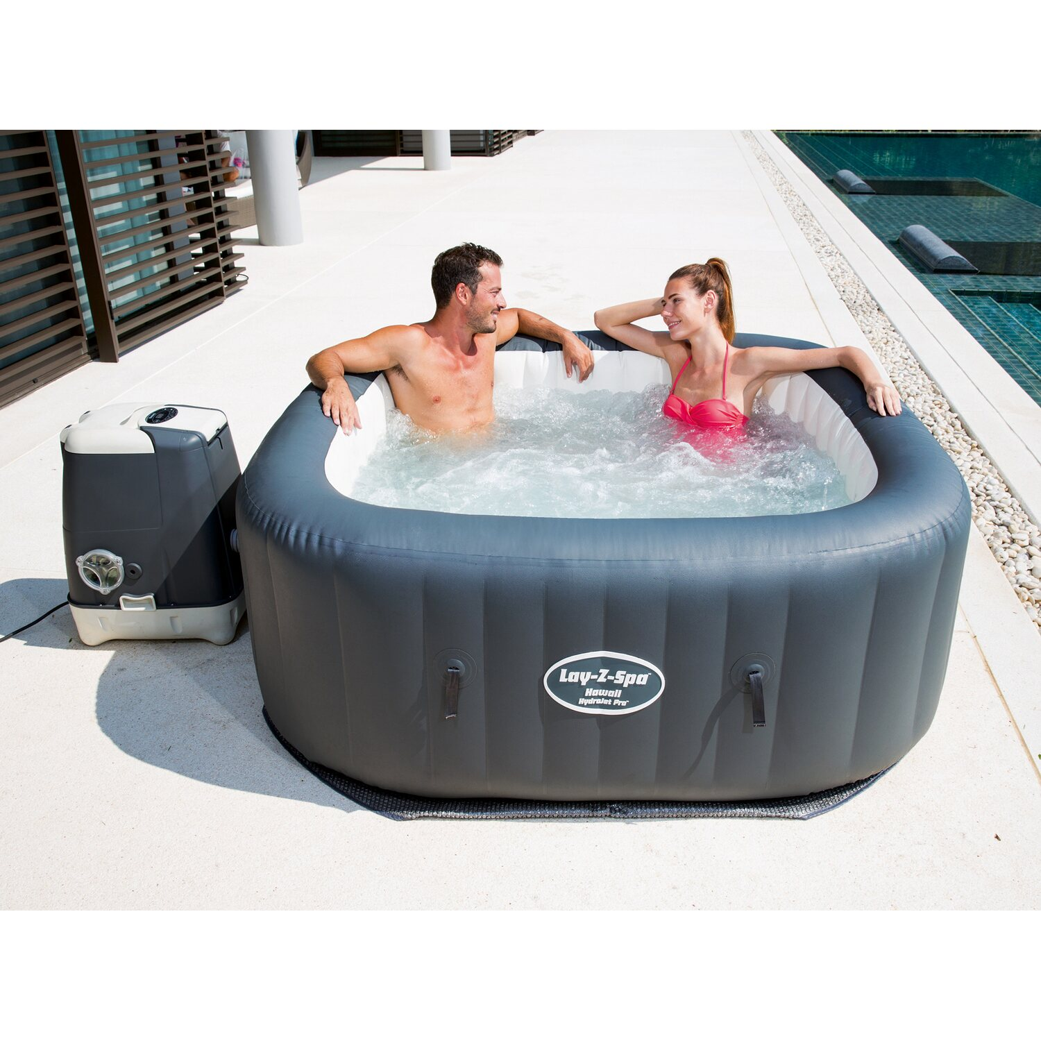 Bestway whirl pool lay z spa whirlpool hawaii kaufen bei obi for Bestway pool obi
