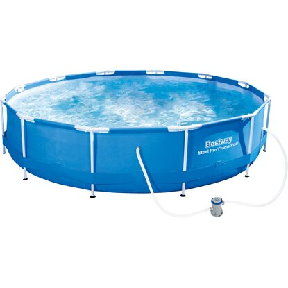 Bestway Stahlrahmen Swimming Pool-Set Ø 366 cm x 76 cm